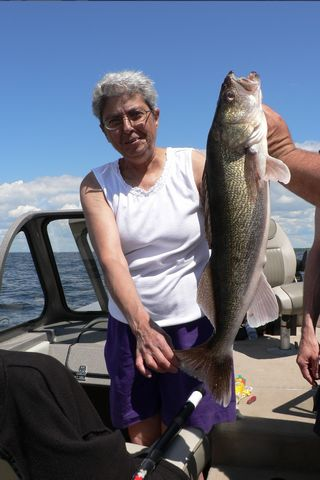 "27"" Walleye - Master Angler on Lake of the Woods Ontario Canada at Harris Hill Resort"