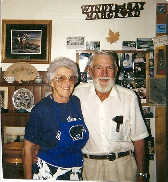 Marge & Ed Richard in the lodge 1996