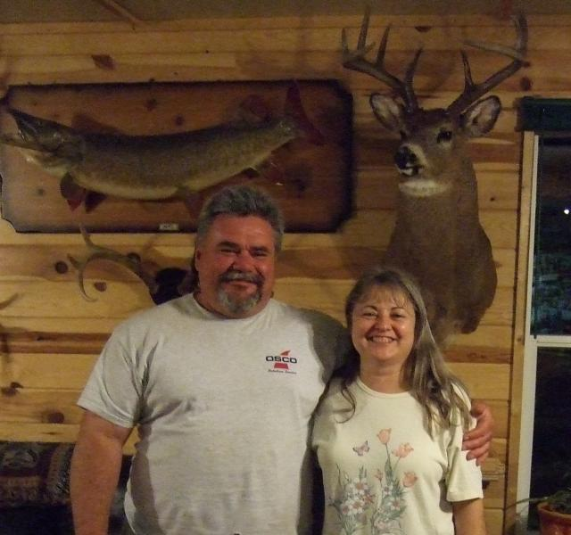 Cheryl & Gary in Ontario Hunting & Fishing Lodge