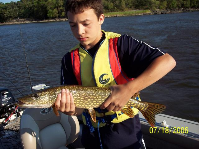 Jake Northern Pike fishing 2006