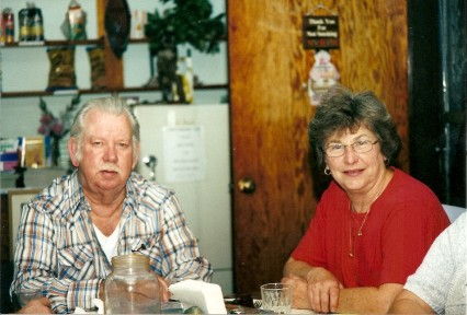 jJoe & Carol Ann Mott, 2002, in the lodge of Harris Hill Resort - Lake of the Woods