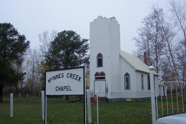 McGinnis Creek Church in Northwestern Ontario Canada: Quaint little church nestled in the pines near Harris Hill Resort.