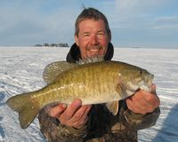 Bass Fishing - Ice Fishing: Bass Fishing on Lake of the Woods for Master Anglers