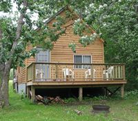 Lakeview Cabin 6 rear deck